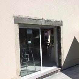 ouverture avec linteau beton