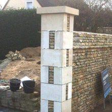 pilier habillage pierre